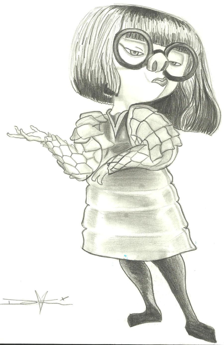 Edna Mode The Incredibles By Stencilgirl On Deviantart
