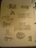 Lettering by lowlife619