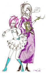 Suzy Apollo Grantz and Noitora by Squidbiscuit