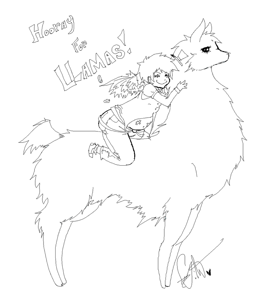Line Drawing Llama : Awesome llama line art by squidbiscuit on deviantart