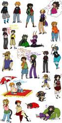 Lots of Species Swap doodles by Squidbiscuit