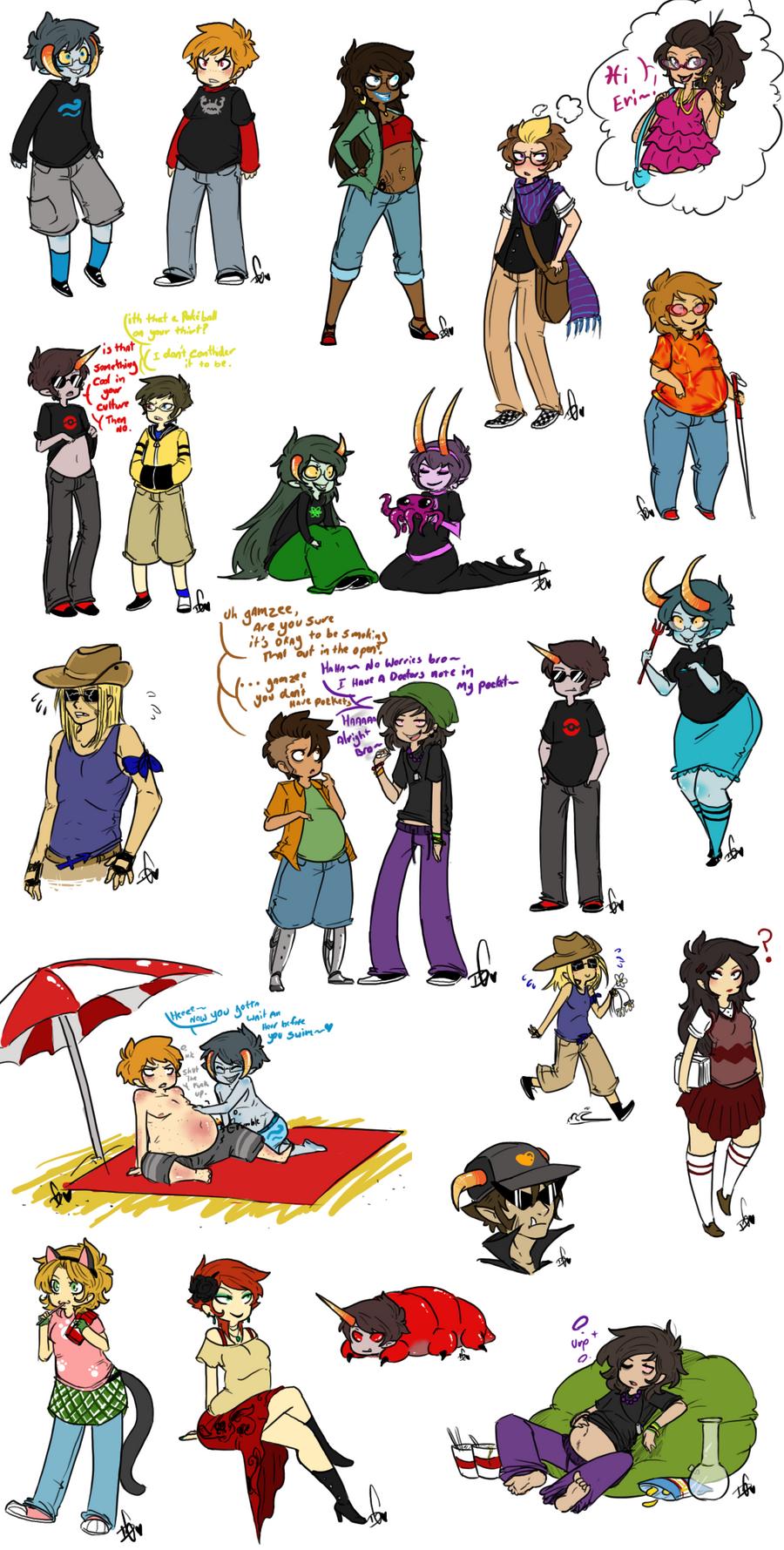 Lots Of Species Swap Doodles By Squidbiscuit On Deviantart