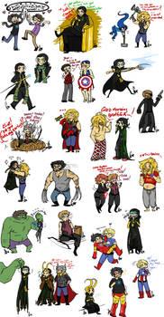 Avengers Sketch Dump 3