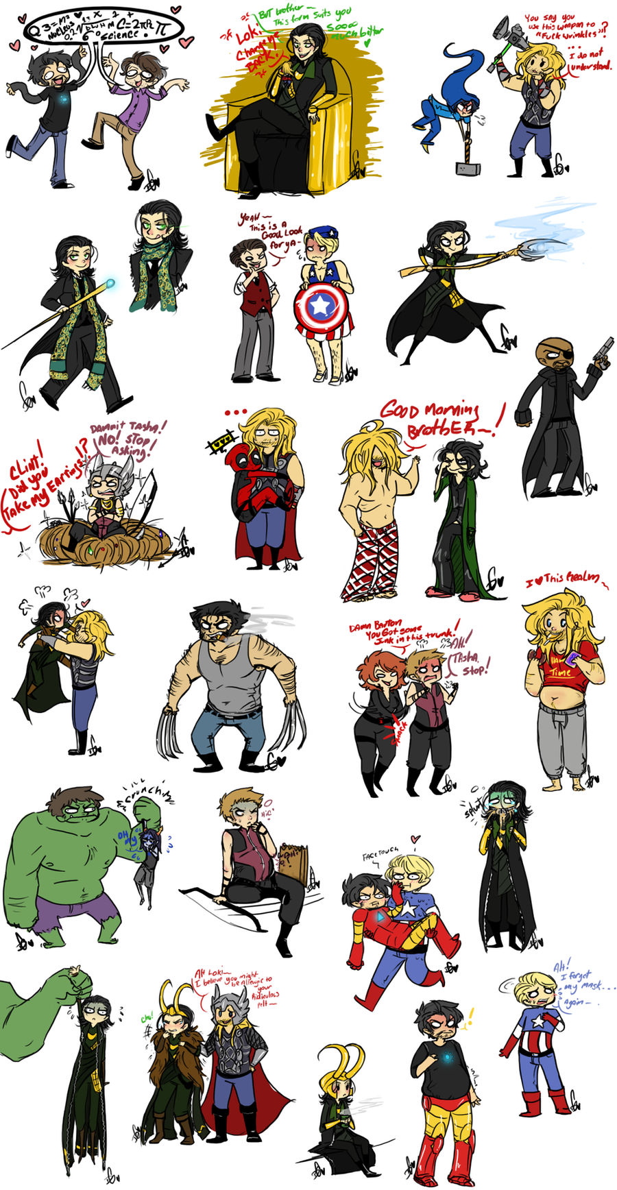 Avengers Sketch Dump 3 by Squidbiscuit on DeviantArt
