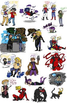 Marvel Sketch Dump 6