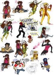 X-Men Sketch Dump by Squidbiscuit