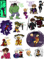 Marvel Sketch Dump 17 by Squidbiscuit
