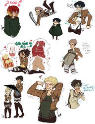 Attack On Titan doodles 1 by Squidbiscuit