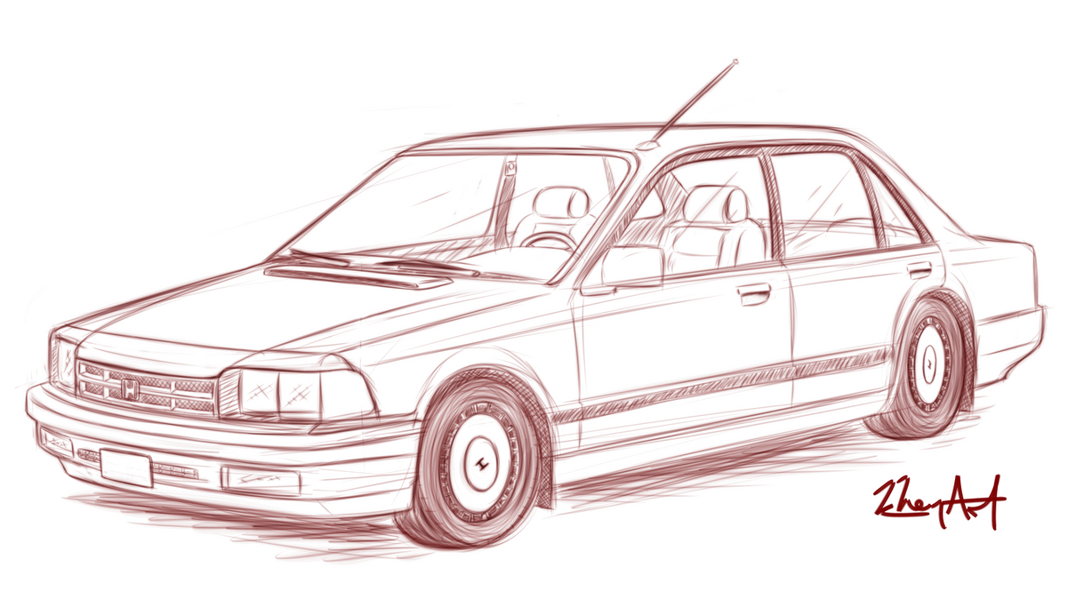 Car sketch 02 by khem art