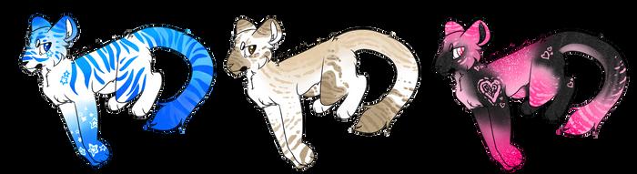 Kitties [open!] by SilverPandorica