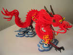 3D Origami Dragon with Stand