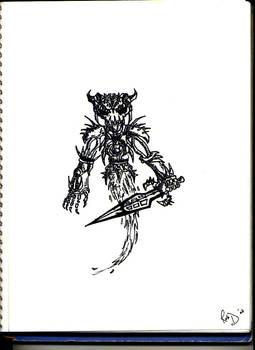 Ghost of a Skeleton Warrior
