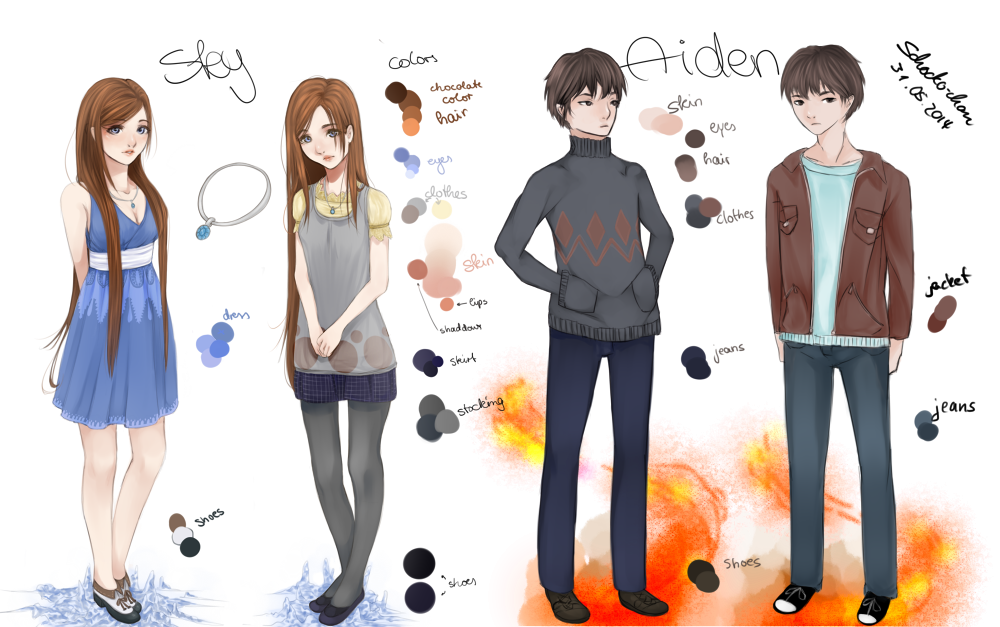 Skye And Aiden3 by Schocko-chan