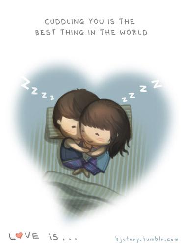 спать обнявшись вместе с любимым