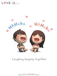 67. Love is... Laughing by hjstory