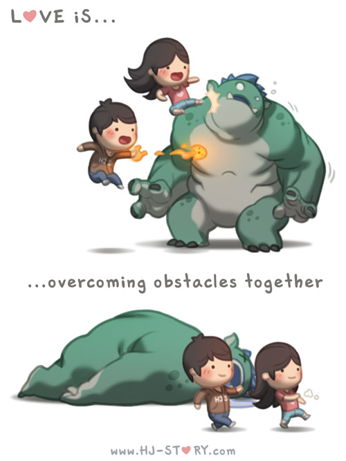 69. Love is... Overcoming Obstacles by hjstory