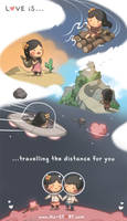 136. Love is... Travellingd the Distance by hjstory