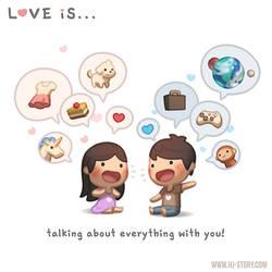 Love is... Talking!