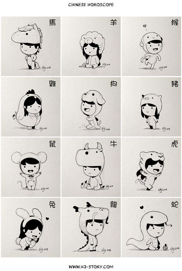 Chinese Zodiac by hjstory