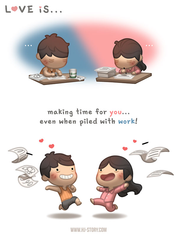 Love is... making time for you! by hjstory on DeviantArt
