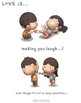 Love is... Making you laugh