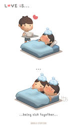 Love is ... being sick together by hjstory