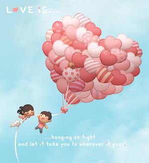 Love is... Hang on tight!
