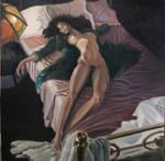 sleeping woman by GARV23