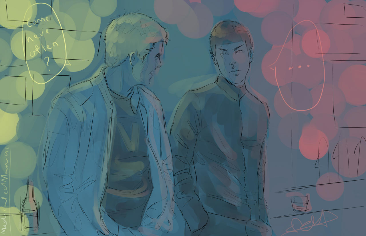 Deviantart Starfleet Captains Tylan Schan: KirkSpock Come Here Often? By MedicatedManiac On DeviantART