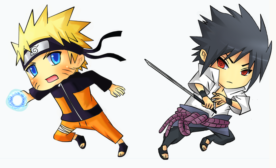 Naruto VS Sasuke Chibi by Kite-K on DeviantArt