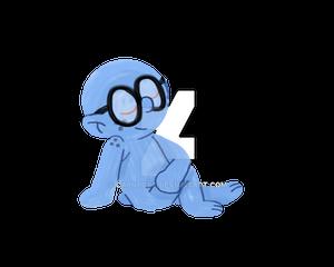 brainy smurf life drawing