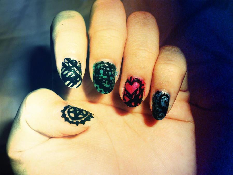 Puella Magi Madoka Magica Nail Art by ineedacat9 on DeviantArt