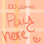 100 Points Pay here by Slushys