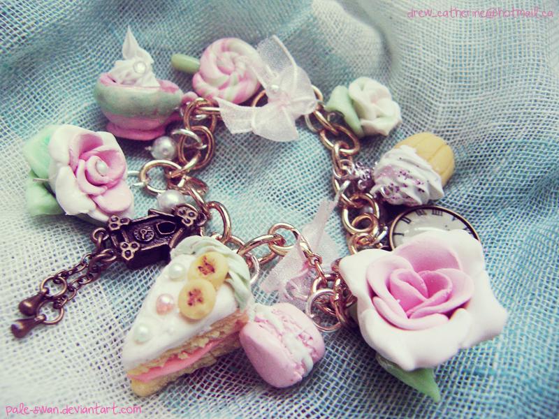 Tea Party Polymer Bracelet by pale-swan