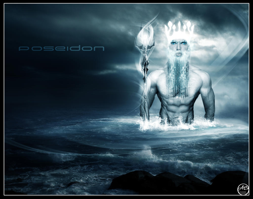 the god poseidon by paiverde on deviantart