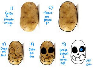 Shitposting - How to Draw Potatoe Sans by Star-Babu