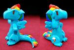 Rainbow Dash clay dragon
