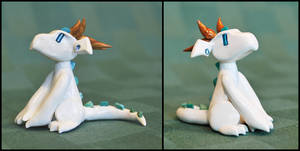 White Dreamer Dragon by HowManyDragons