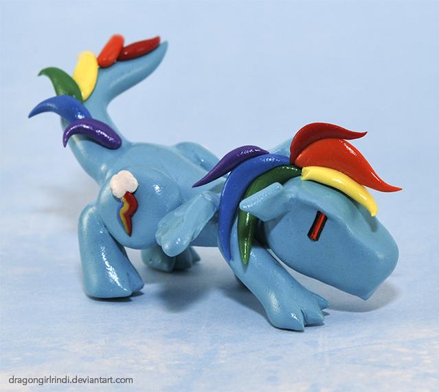 My Little Pony-dragons: Rainbow Dash by HowManyDragons