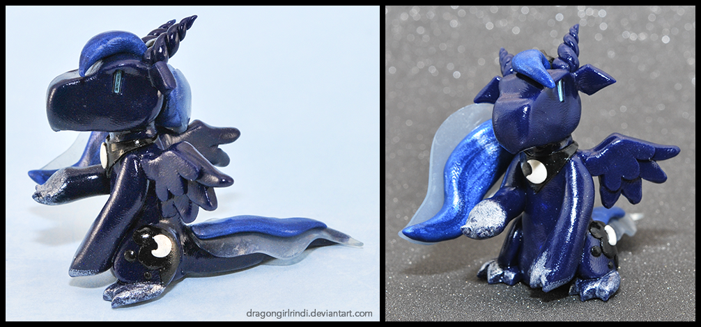 My Little Pony-dragons: Princess Luna by HowManyDragons