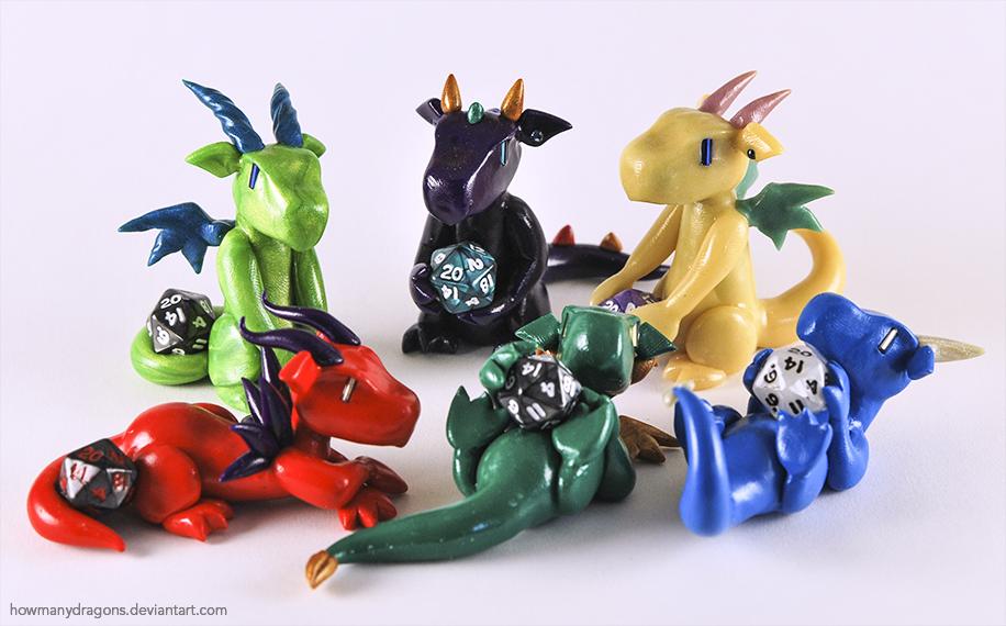 Otakon Dice Dragons by HowManyDragons