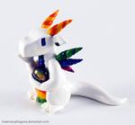White Rainbow Clay Dragon