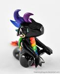 Black Rainbow Clay Dragon