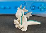 White Wii Gamer Dragon