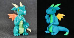 Blue Glow-in-the-dark Dragon