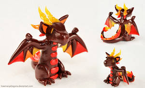 Spirit of Fire: Bat Dragon by HowManyDragons