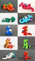 A Passel of Petite Dice Dragons by HowManyDragons