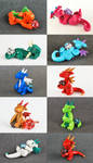 A Passel of Petite Dice Dragons