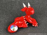 Lounging Red Rhinestone Dragon
