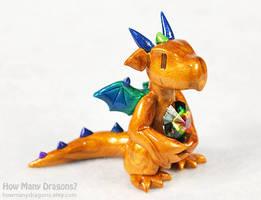 Gold Rainbow Dragon by HowManyDragons